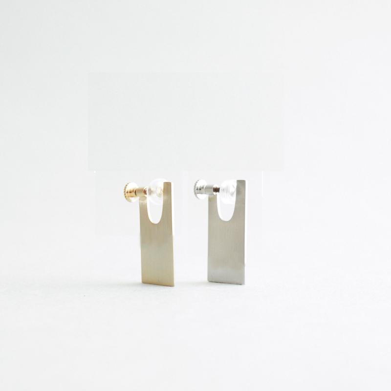 PLATE SHORT   normal  earring
