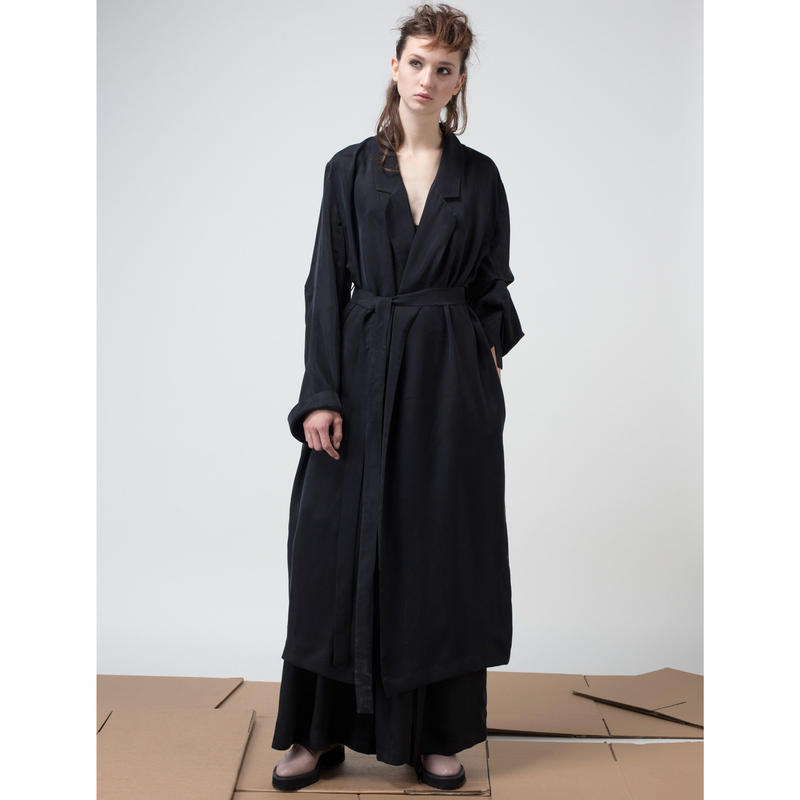 KETA GUTMANE ケタ グットマン Long cupro robe with belt キュプラ ロングローブ ベルト付