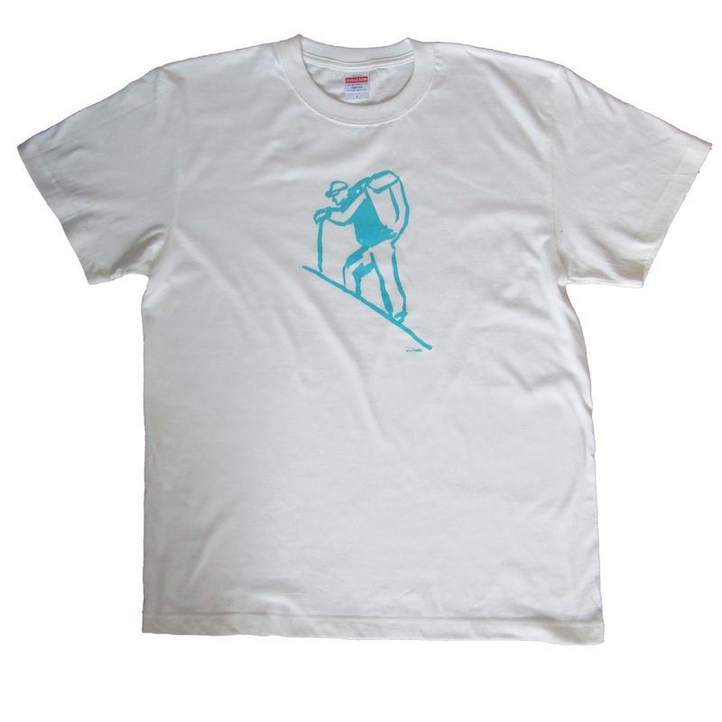 山登りするTシャツ(白)