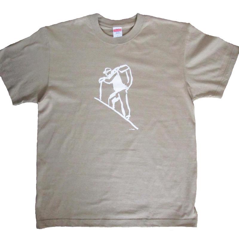 山登するTシャツ(カーキ)