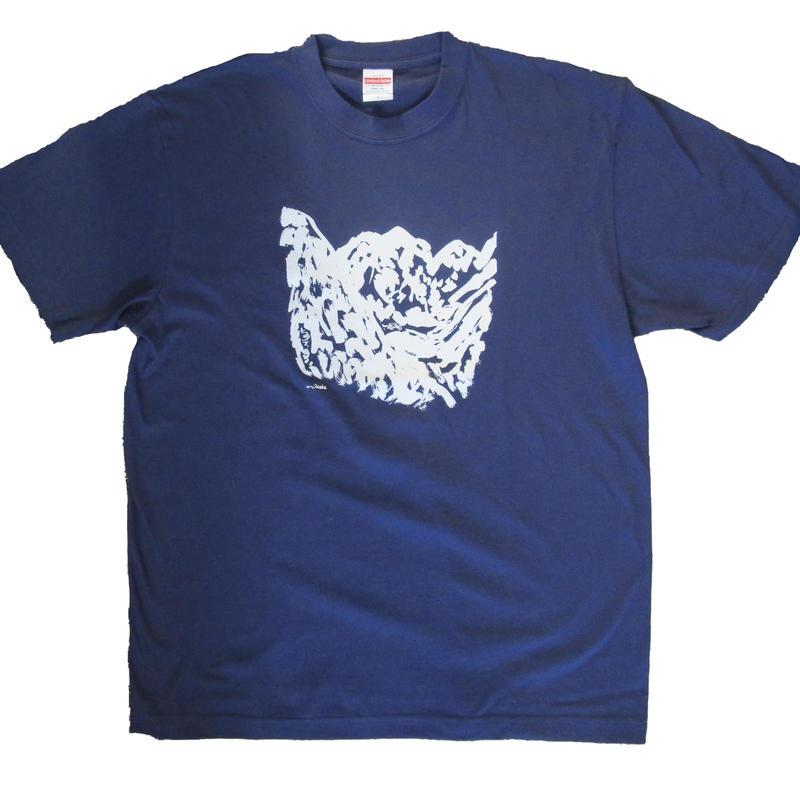 ヒュッテあるTシャツ(紺)