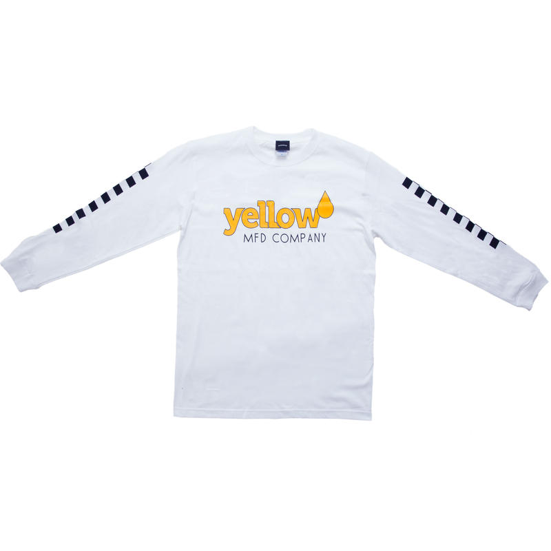 【WHT】Yellow long sleeve T