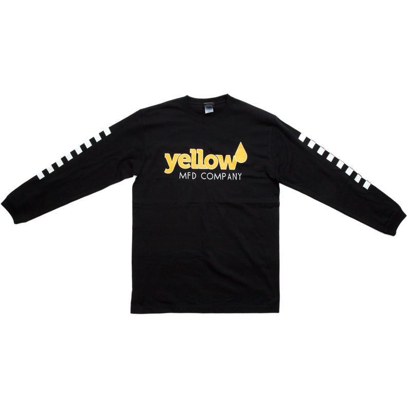 【BLK】Yellow long sleeve T
