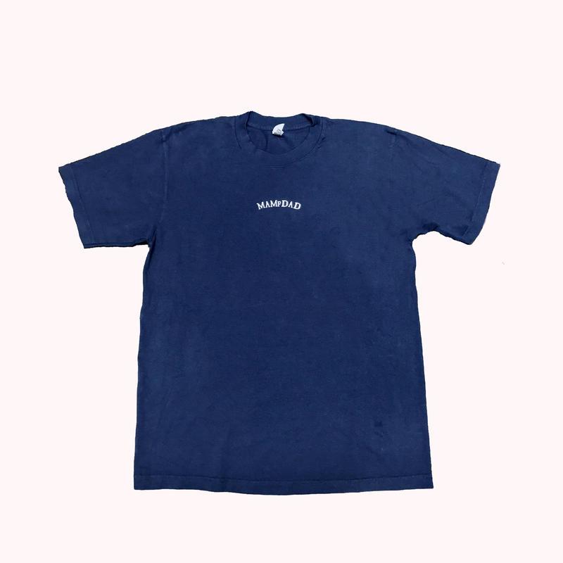 【NVY×WHT】center arch logo 刺繍 T-Shirt
