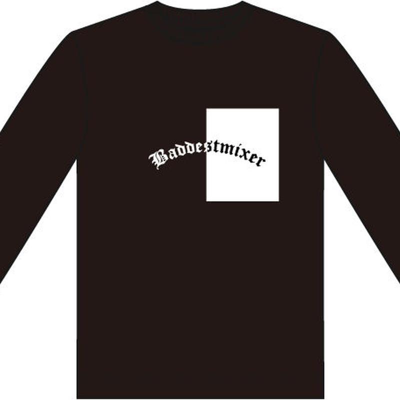 【BLK】baddestmixer long sleeve T-shirt