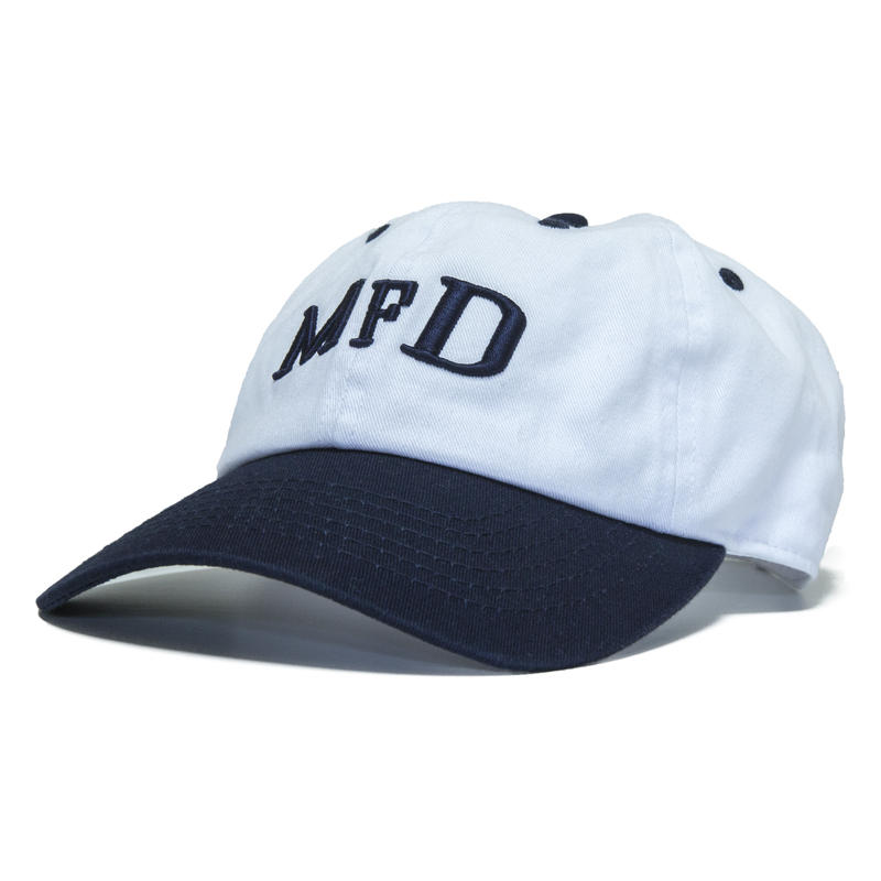 【Navy】short logo snap back cap