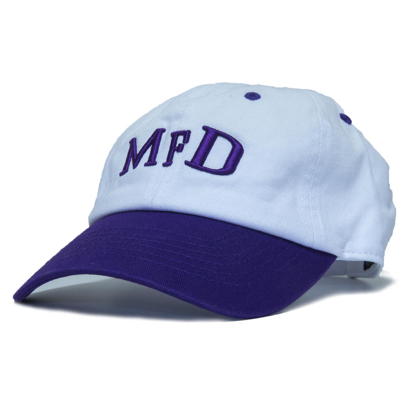 【Purple】short logo snap back cap