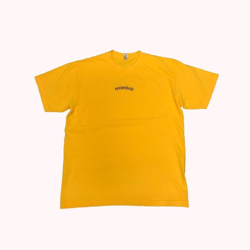 【YELLOW×BLK】center arch logo 刺繍 T-Shirt