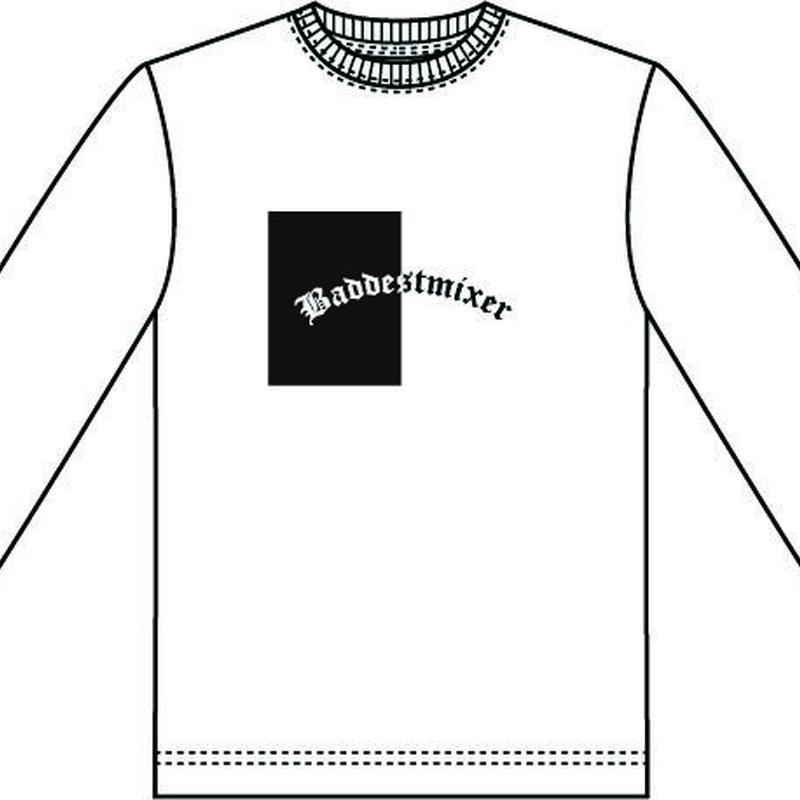 【WHT】baddestmixer long sleeve T-shirt