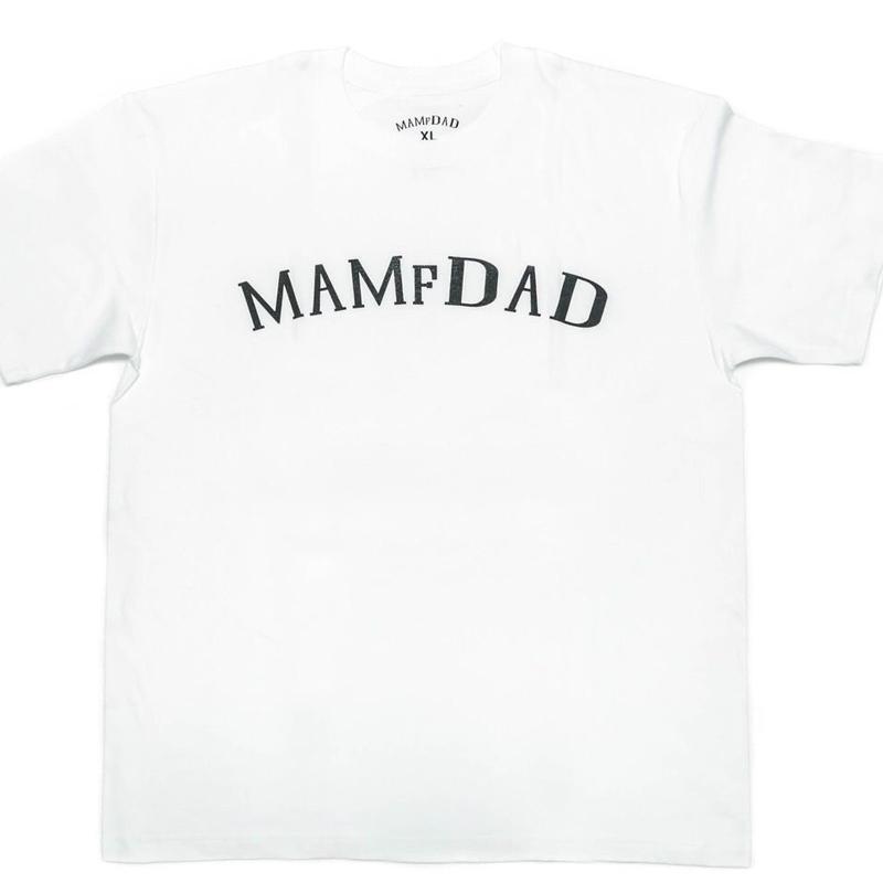 MAMfDAD Arch LOGO T-shirts【WHT】