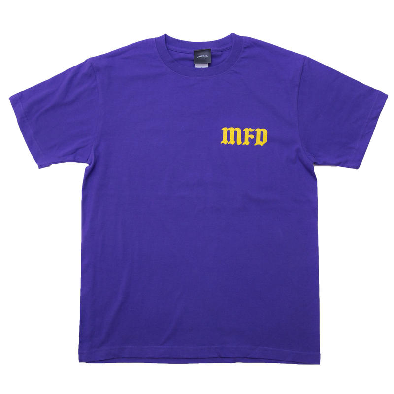 【PURPLE】cross logo T