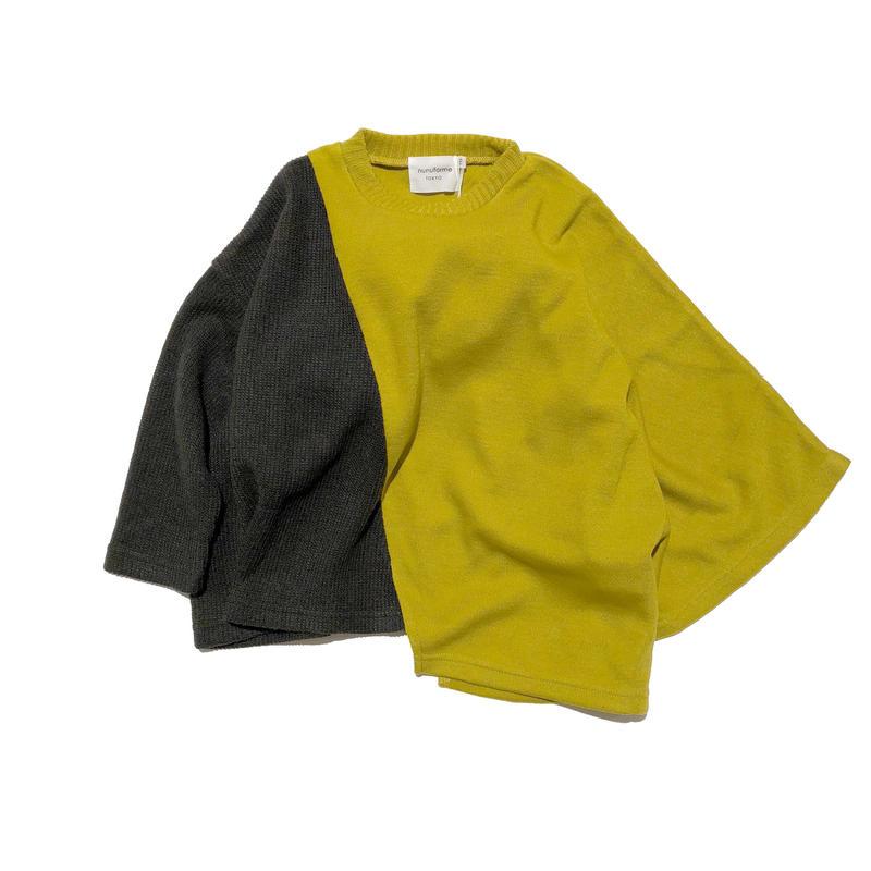 nunuforme / バイカラーアシメT マスタード95.105.115.125.135.145