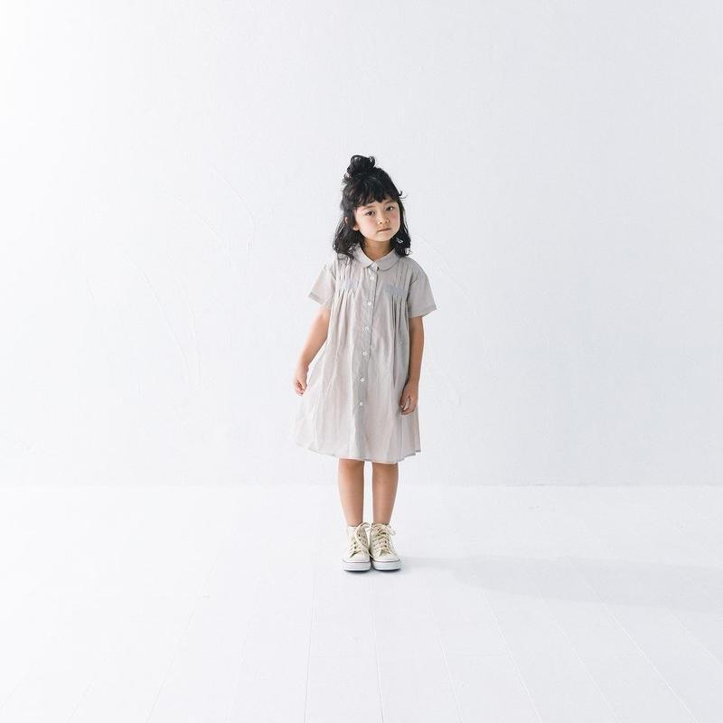 nunuforme / タックワンピースnf11-524-008グレイベージュ95.105.115.125.135.145