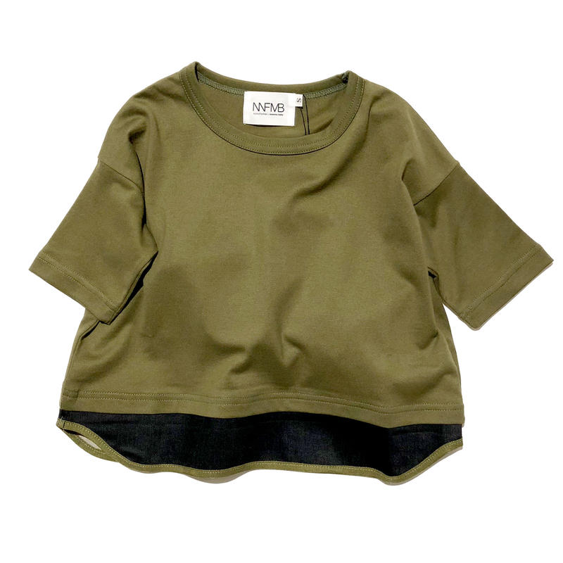 NNF MB / カーキヘムチェンジTシャツ (85-145cm)
