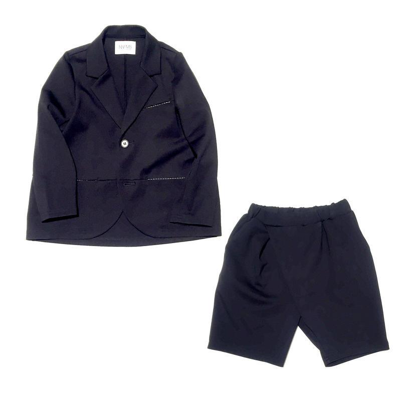 NNF MB nunufrome×mammy baby / サイズ別注 バブルジャージーコクーンジャケット & クロスタックハーフパンツ