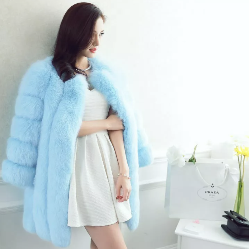 Blue moonファーコート