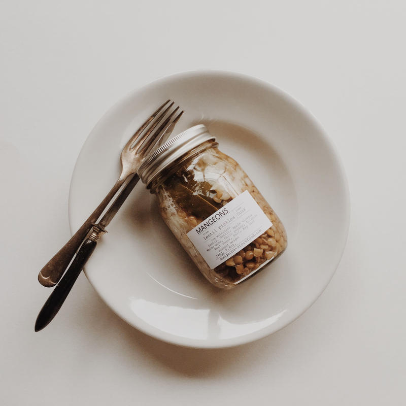 Lentil pickles    'Dusk'