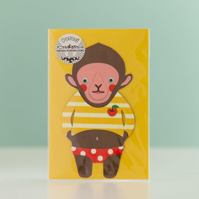 ANIMAL PORORI CARD-MONKEY