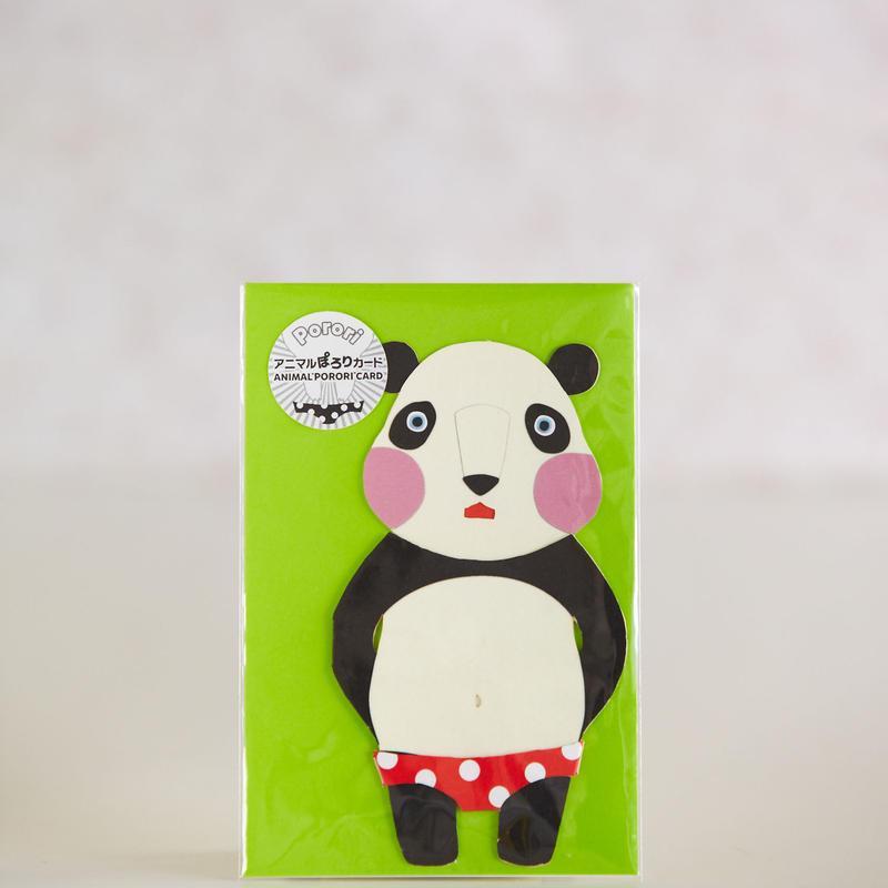 ANIMAL PORORI CARD-PANDA