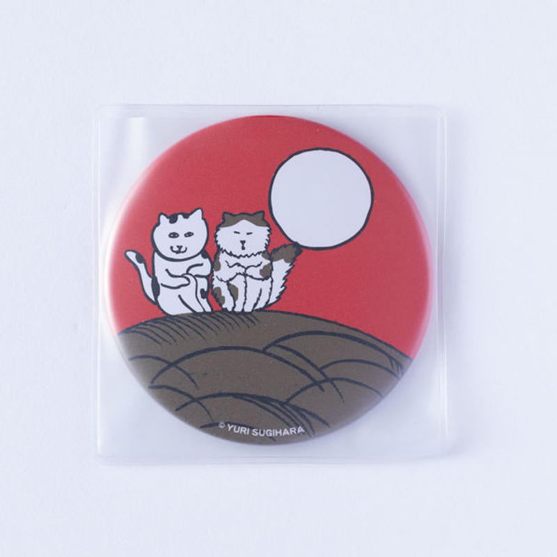 (NEW!) HANAFUDA CAT CAN MIRROR-Moon