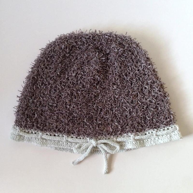 ニット帽  綿モール・リボン