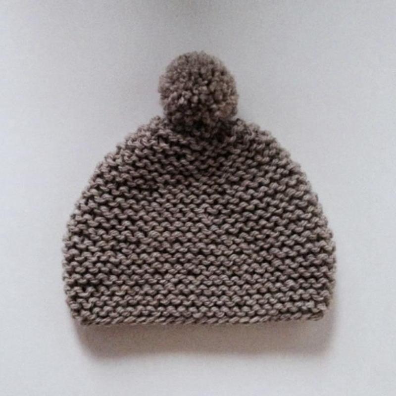 ニット帽 ガーター