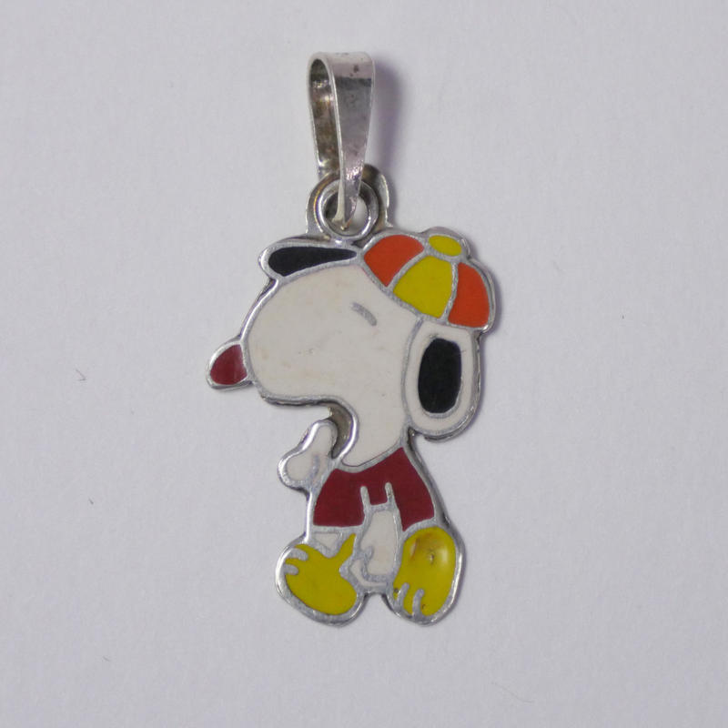 VINTAGE SILVER CHARM  SNOOPY?