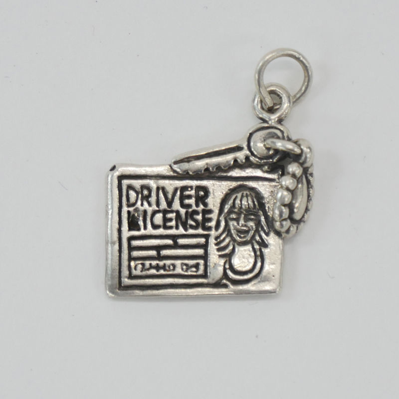 VINTAGE SILVER CHARM  DRIVER'S LICENCE