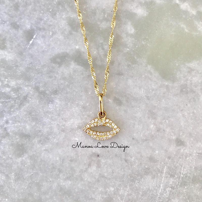 14k キスダイヤモンド ペンダントトップ ($680)