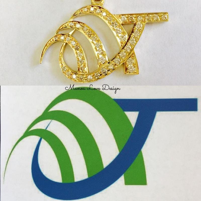 特注ペンダントロゴ ダイヤモンド製作 ($2600)