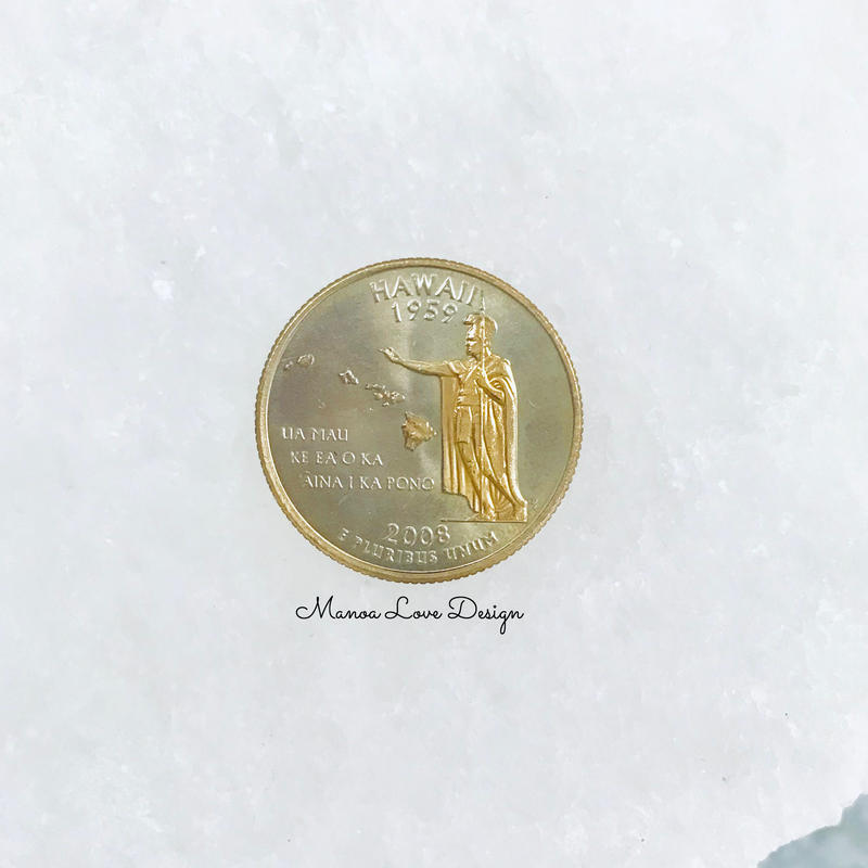 2008年製 ハワイコイン 25㌣  24K加工 ($75)