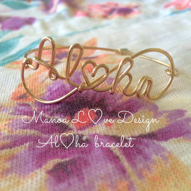 Manoa Love design/14K Gold f Al♡haブレスレット ($128→ 20%off後  $102.40)