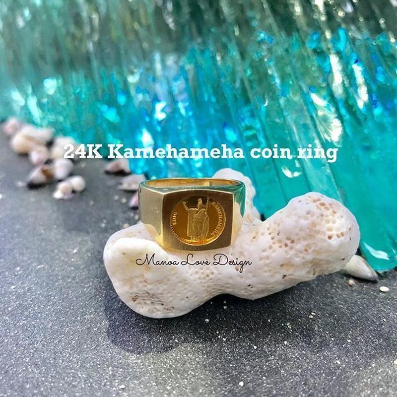 24K 幻の1点物 スーパーレア  キングカメハメハ ビンテージ ハワイコインリング ($4800)