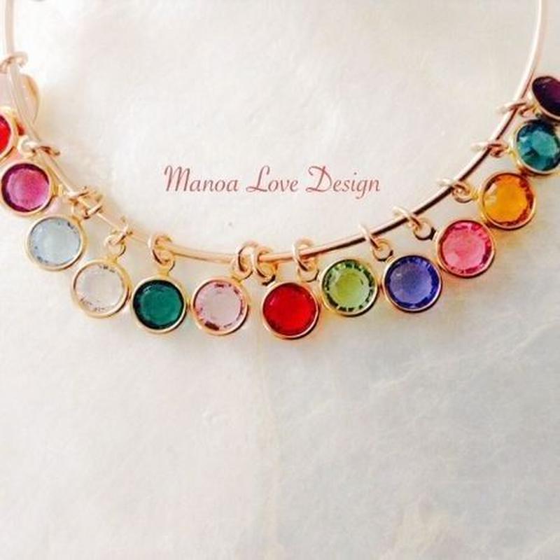 Manoa Love Design スワロフスキークリスタル バースストーン オプションチャーム 1月〜12月 ($10)