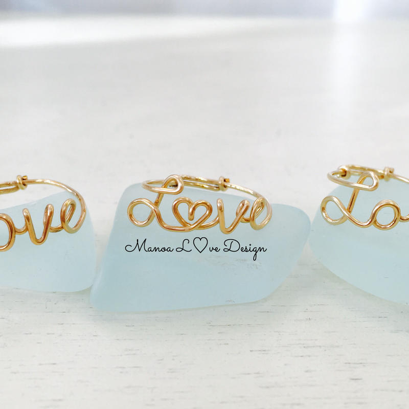 Manoa Love Design/ 14k Gold f . Loveリング($68→20%off後 $54.40)