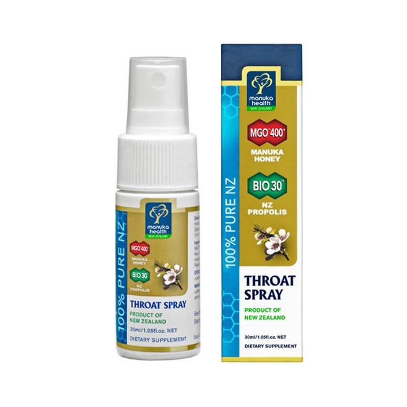 【のどの乾燥・口臭予防に便利なのどスプレー】MGO400+ マヌカハニー&BIOプロポリス ナチュラル抗菌のどスプレー