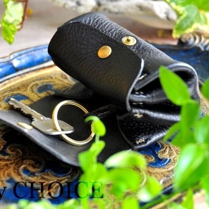 イタリアンオイルレザー・アリゾナ・アコーディオンコインキーケースミニ(黒)