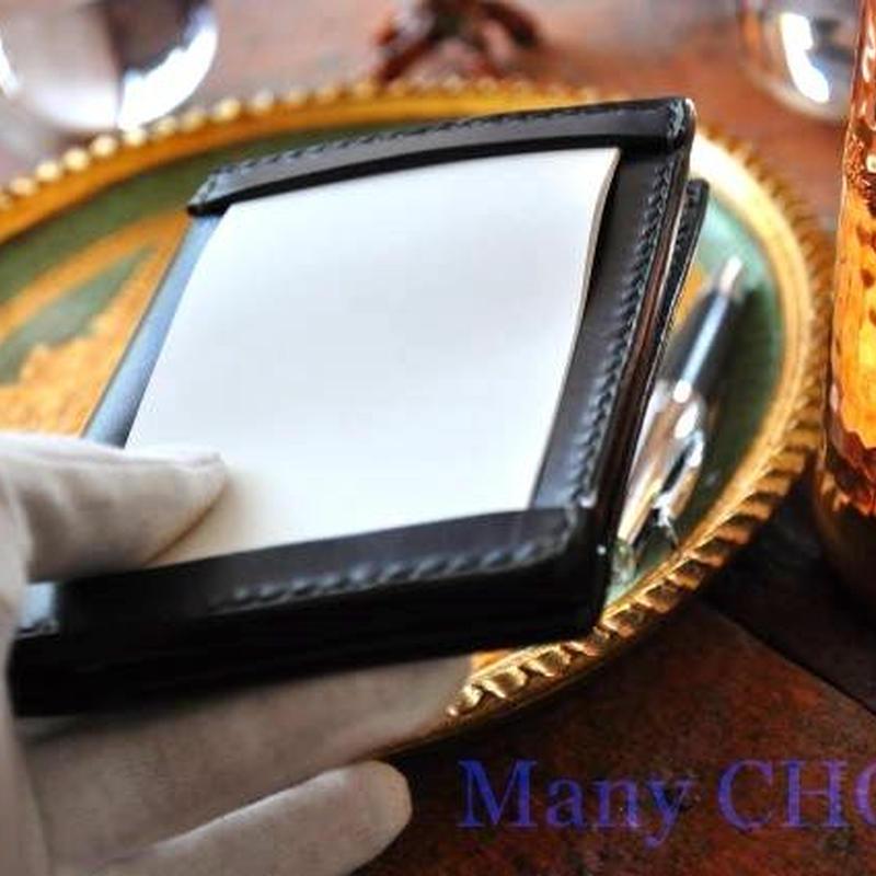 革の宝石ルガトー・ジョッターケース (5×3サイズ)(紺)