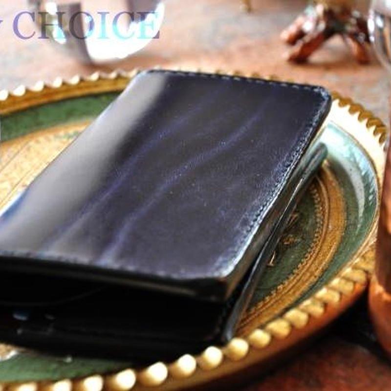 革の宝石ルガトー・長財布(紺×緑×茶)