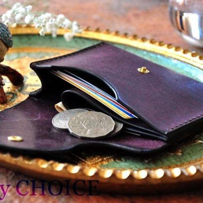 イタリアンレザー・革新のプエブロ・ミニマム財布(バイオレット)