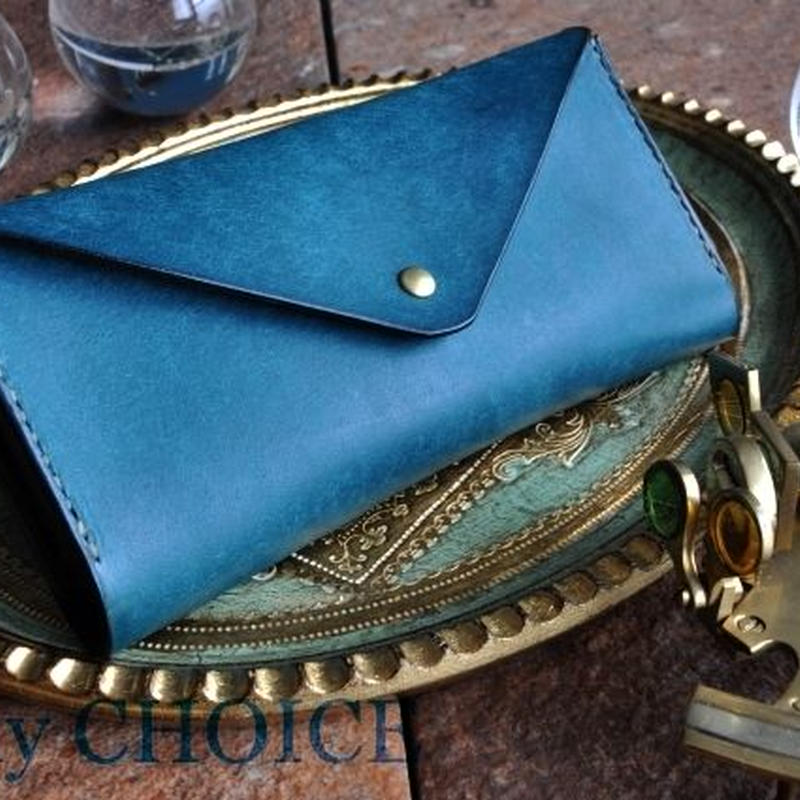 イタリアンレザー・革新のプエブロ・長財布2(オルテシア×ショコラ)