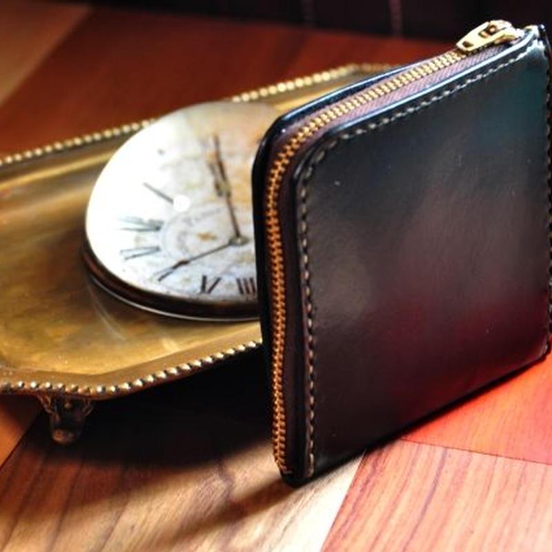 革の宝石ルガトー・L型財布(黒)