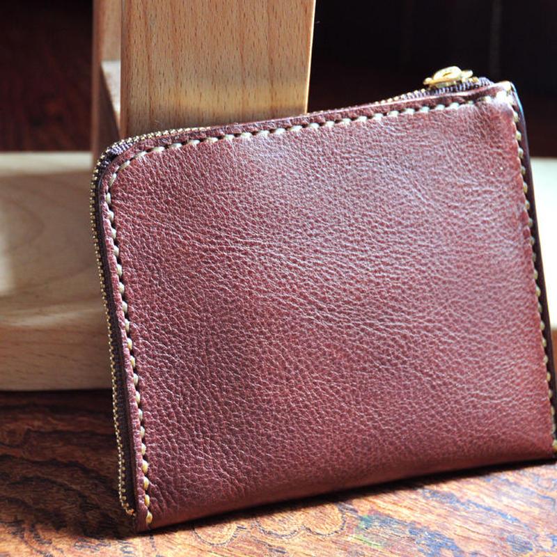 イタリアンオイルレザーアリゾナ・L型財布(チョコ)