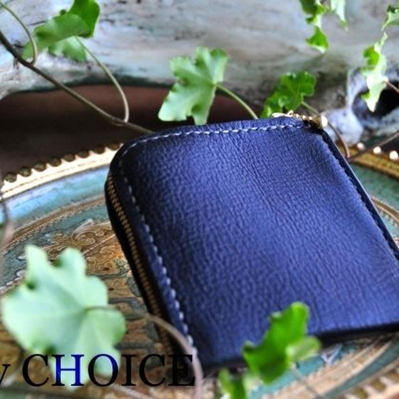 イタリアンオイルレザーアリゾナ・L型財布(黒)