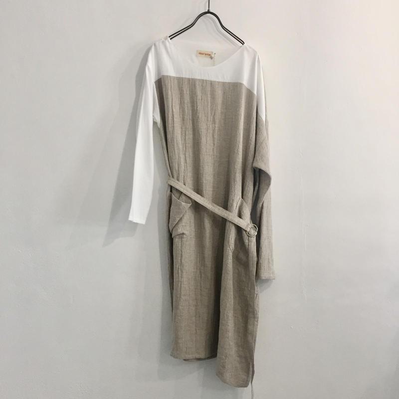 Asymmetry Fuyuniwa Dress / Beige
