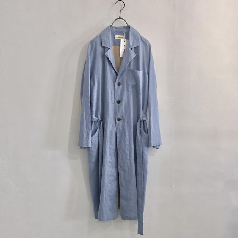 french linen work coat