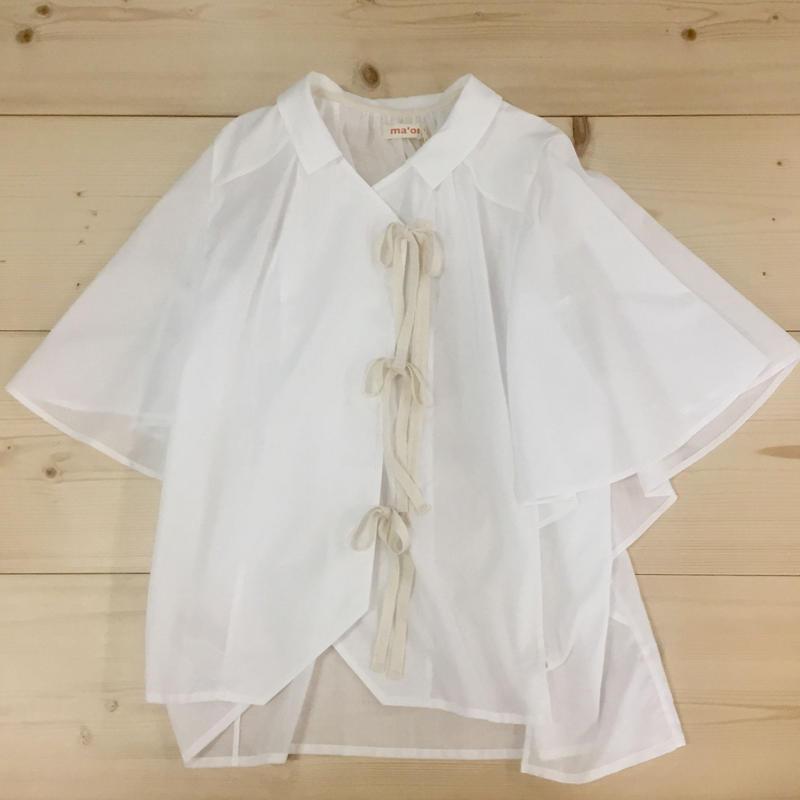 wing p blouse / white cotton