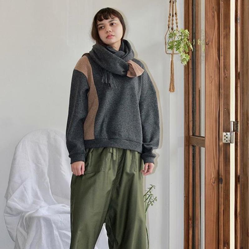 Asymmetric Design Wool Jumper