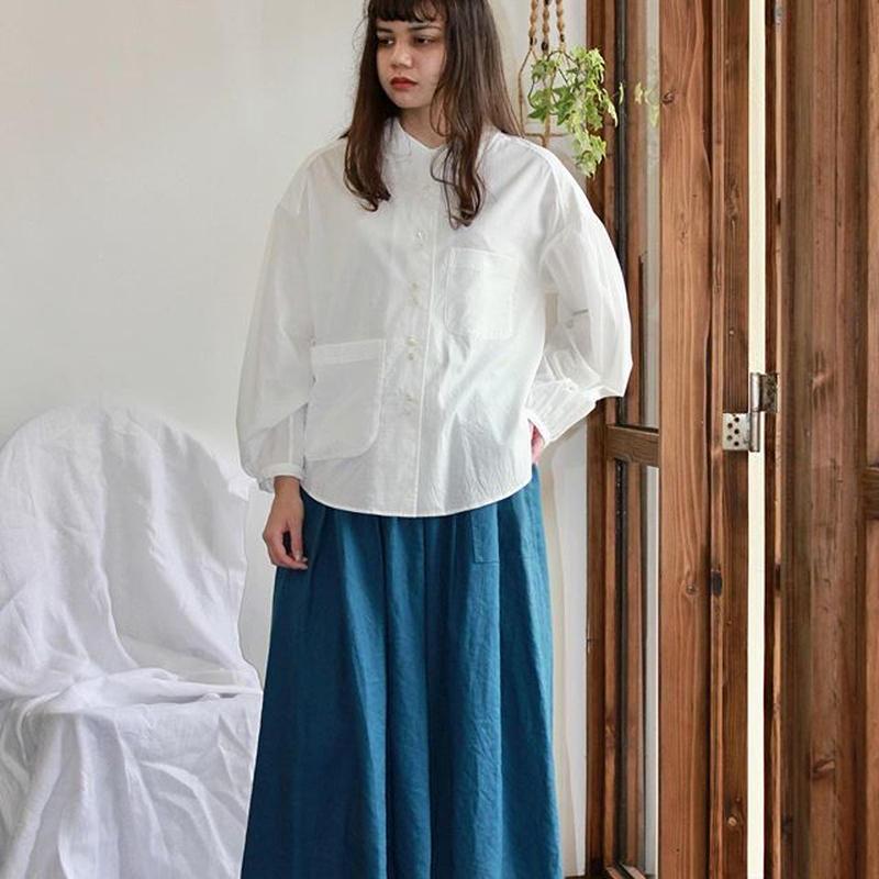 Oversized Open-collor Blouse  (Organic Cotton)