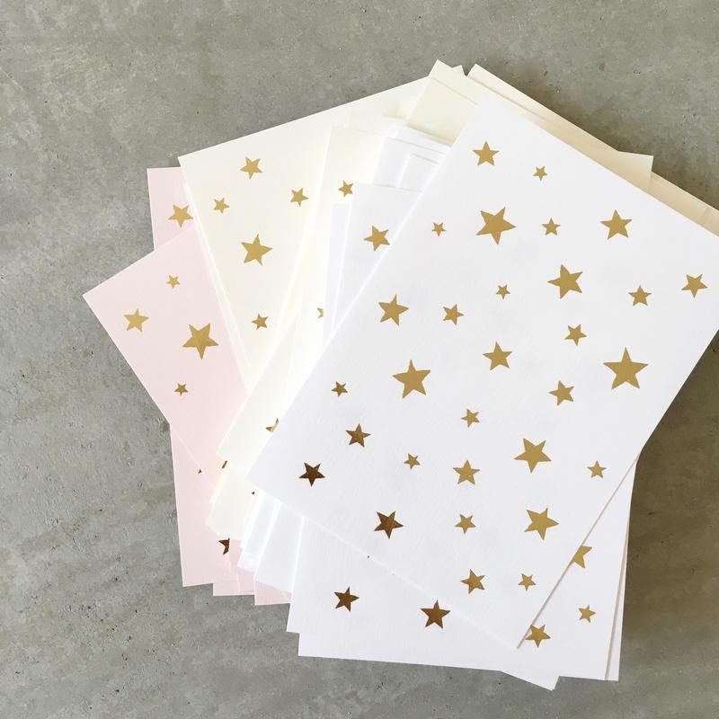 メッセージカード(星)
